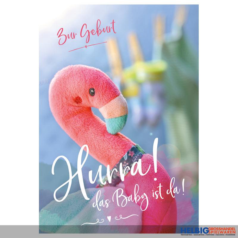 Glückwunschkarte Geburt Hurra Das Baby Ist Da 01528