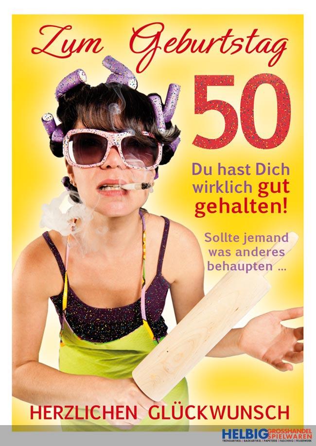 Gluckwunschkarte 50 Geburtstag Wirklich Gut Gehalten 03027
