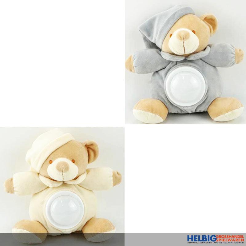 Baby Teddybär Schlafmütze mit Kissen rosa  Schlafteddy NEU