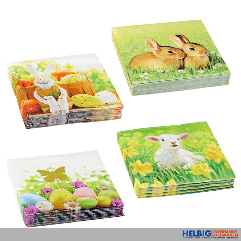 Servietten Ostern 20er Pack 6 Sort 42894