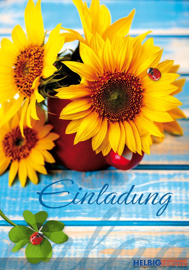 """neutrale einladungskarten """"einladung-sonnenblume""""-54001, Einladungsentwurf"""