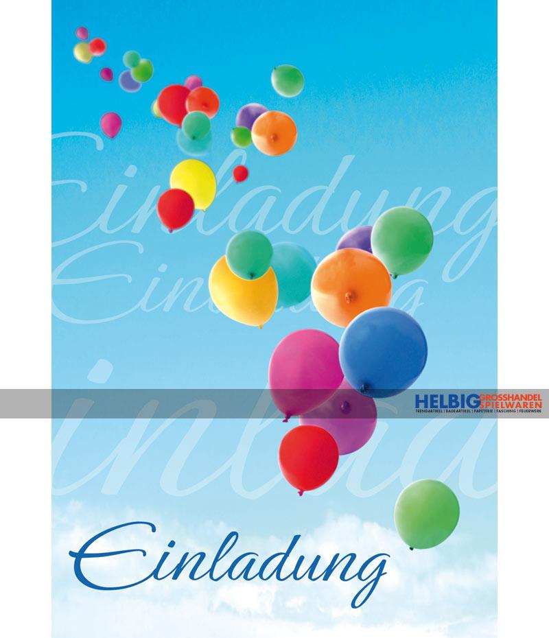 """geburtstags-einladungskarten """"einladung-luftballons""""-54002, Einladungen"""