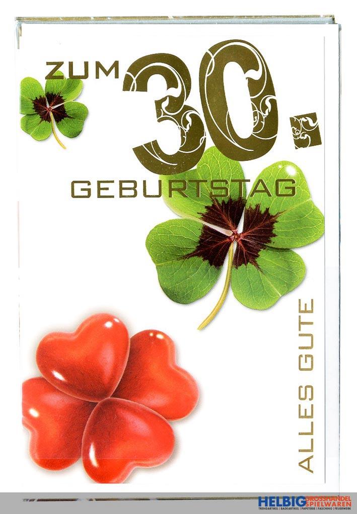 Gluckwunschkarte 30 Geburtstag 10er Sortiment 54h1930
