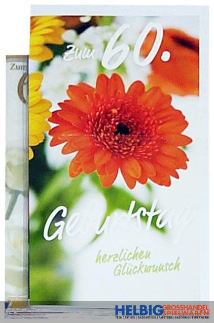 Gluckwunschkarte 60 Geburtstag 10er Sortiment 54h1960