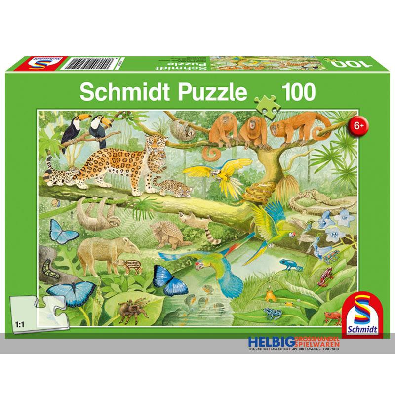 Kinder Puzzle Tiere Im Regenwald 100 Teile 56250