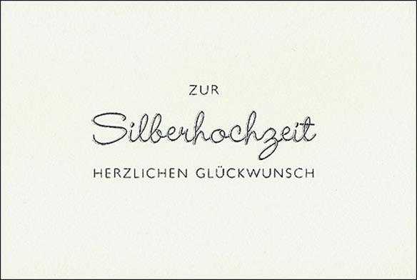 Karte Silberhochzeit Querformat 711270