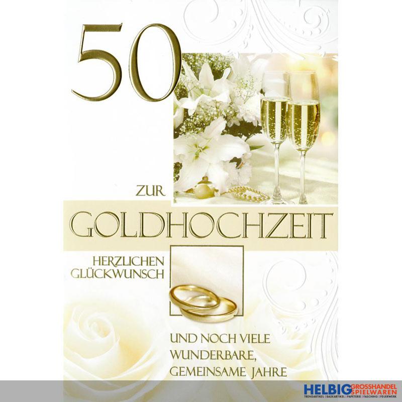 gl ckwunschkarte goldene hochzeit 50 72h1112. Black Bedroom Furniture Sets. Home Design Ideas