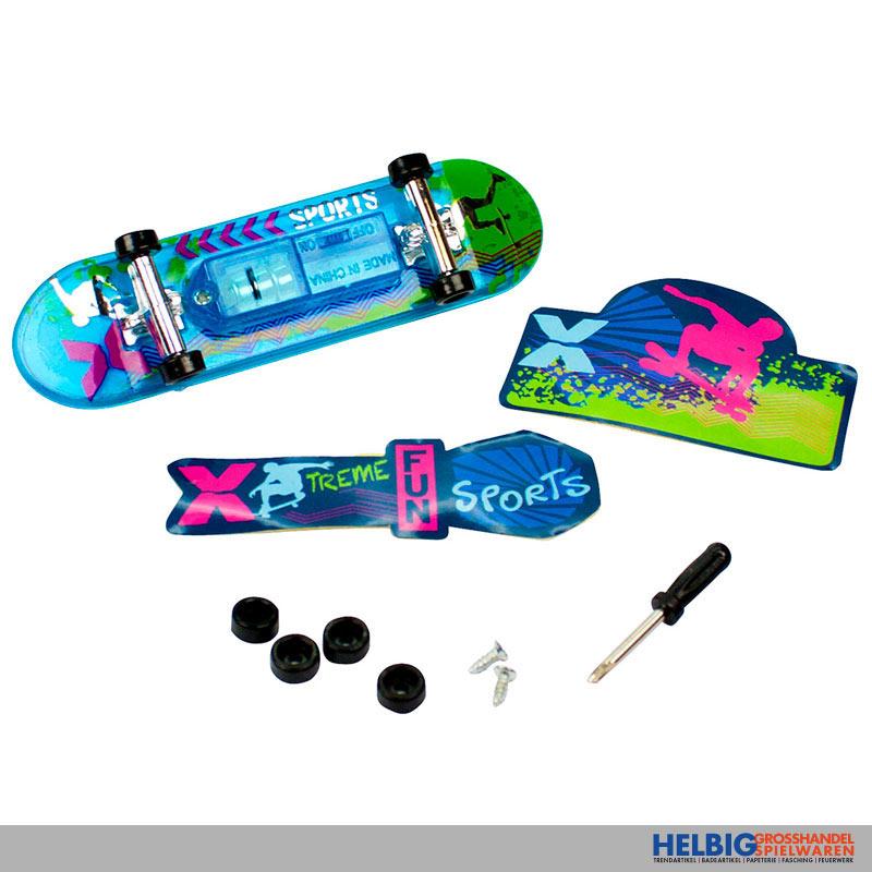 finger skateboard xtreme sport m licht 3 sort 940810. Black Bedroom Furniture Sets. Home Design Ideas