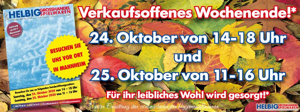 Verkaufsoffenes Wochenende - Herbst/Winter 2020