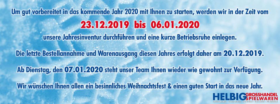 Kunden-Info Jahreswechsel 2019-2020
