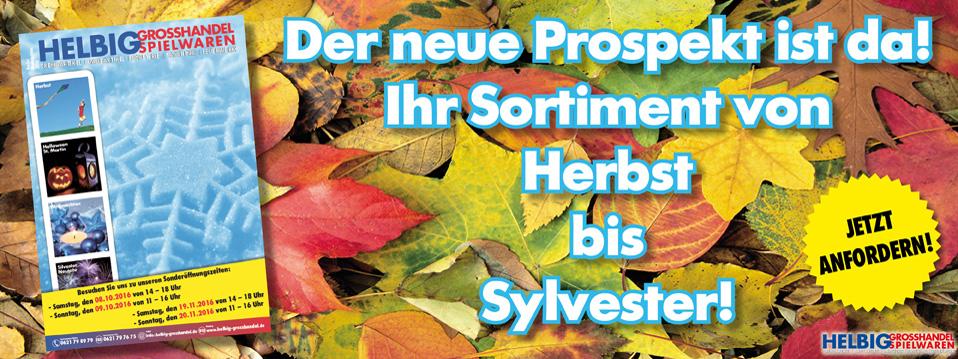 """Prospekt """"Herbst-Weihnachten 2016"""""""