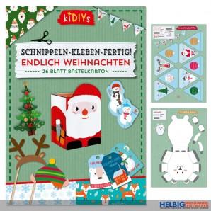 """Kreativ-Bastelbuch """"Schnippeln-Kleben-Fertig!"""" Weihnachten"""