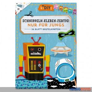 """Kreativ-Bastelbuch """"Schnippeln-Kleben-Fertig!"""" Jungs"""