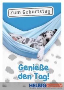 "Glückwunschkarte Geburtstag ""Genieße den Tag"