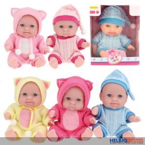 "Baby-Puppe ""Cute Baby"" 14 cm - 6-sort."