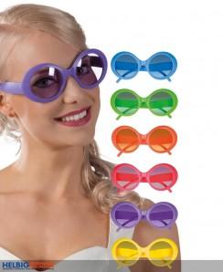 "Party-Brille ""Jackie"" Neonfarben - 6-sort."
