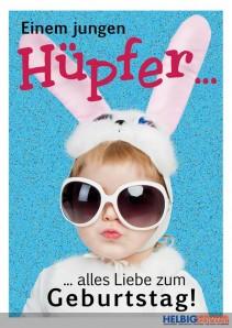 """Glückwunschkarte Geburtstag """"Junger Hüpfer"""""""