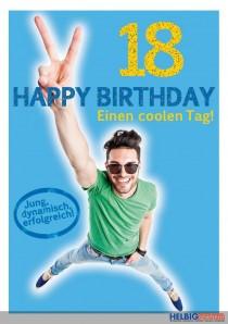 """Glückwunschkarte 18. Geburtstag """"Einen coolen Tag"""""""