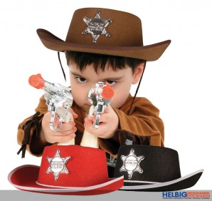 "Cowboy-Hut ""Sheriff"" - 3-sort."