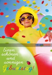 """Glückwunschkarte Kindergeburtstag """"...schön & sonnig"""""""