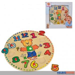 """Holz-Einlegepuzzle """"Lern-Uhr"""""""