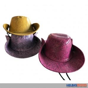Cowboyhut m. Schlangendekor - sortiert