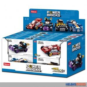 "Steckbausteine-Sort. ""Power Bricks"" Autos m. Rückzug sort."
