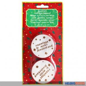 """Deko-Fensterklebeband rot """"Weihnachten"""" - 2 x 10 m"""