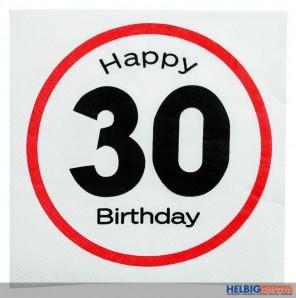 """Papier-Servietten """"Happy Birthday - 30"""" 3-lagig"""