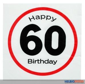 """Papier-Servietten """"Happy Birthday - 60"""" 3-lagig"""