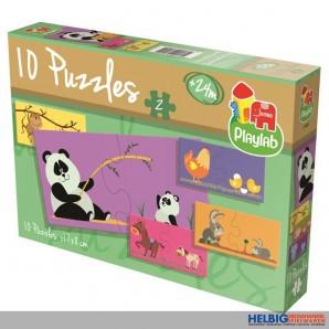 """Kleinkind-Puzzle """"10 in 1: Tiermütter und ihre Babys"""""""