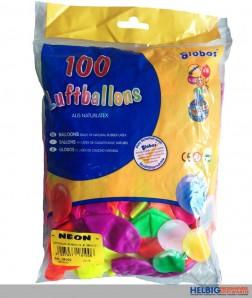 "Luftballons ""Neon-Farben"" - 100er Beutel"