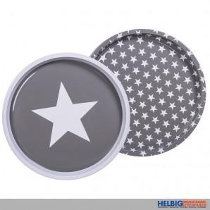 "Metall-Tablett ""Stern/Star 28 cm"" - 2-sort."