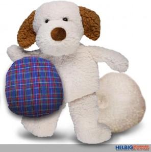 """Plüschfigur """"2 in 1 - Hund"""" - m. wechselbaren Kissen"""