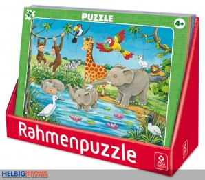 "Rahmenpuzzle ""Kinder"" gr. -  sort."