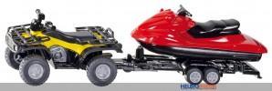 Siku 2314 - Quad mit Anhänger und Jet-Ski