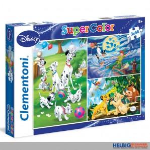 "Puzzle Disney ""Classic"" Super Color - 3 x 48 Teile"