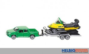 Siku 2548 - PKW mit Anhänger und Snowmobil