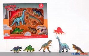 "Dinosaurier-Set ""Animal World"" - 6-tlg."