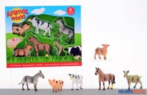 """Bauernhof-Tiere-Set """"Animal World"""" - 6-tlg."""