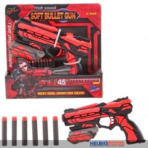 """Softpfeil-Pistole kl. """"Soft Bullet Gun"""" - 18 cm"""