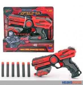 """Softpfeil-Pistole """"Soft Bullet Gun"""" - 23 cm"""