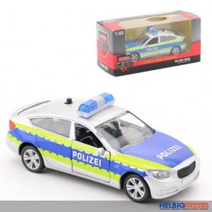 """Polizei-Auto """"Super Cars"""" aus Metall - mit Licht & Sound"""