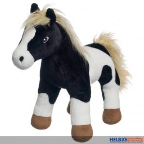 """Plüschtier """"Pferd stehend - schwarz/weiss"""" - 30 cm"""