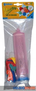 Luftballon-Pumpe / Ballon-Pumpe - inkl. 10 Luftballons