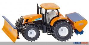 Siku 2940 - Traktor mit Räumschild und Salzstreuer