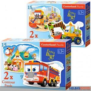 "2in1 Formen-Puzzle ""9 + 15 Teile"" - 2-sort."