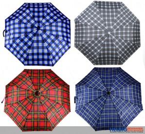 """Taschen-Regenschirm """"Karo"""" - sort."""