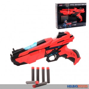"Softpfeil-Pistole mit Lichtfunktion""Pro Shooter III"" - 29 cm"
