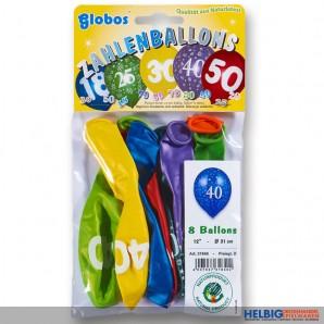 "Zahlenluftballon-Set m. Aufdruck ""18"""